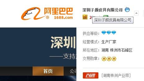 深圳子颜皮具有限公司入驻诚信通店铺展示